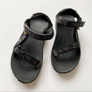 Teva Hurricane Sandal Black Gray Kids Size 2